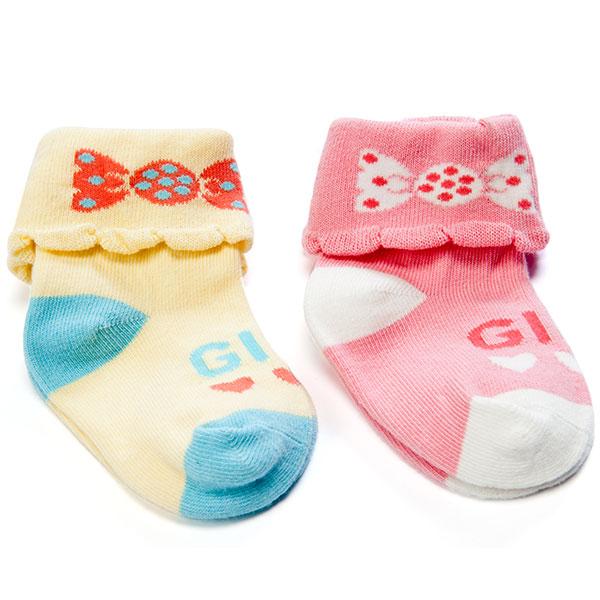 歌瑞贝儿(新)--糖果女孩袜/2双装GB130-211混色6-12个月月包