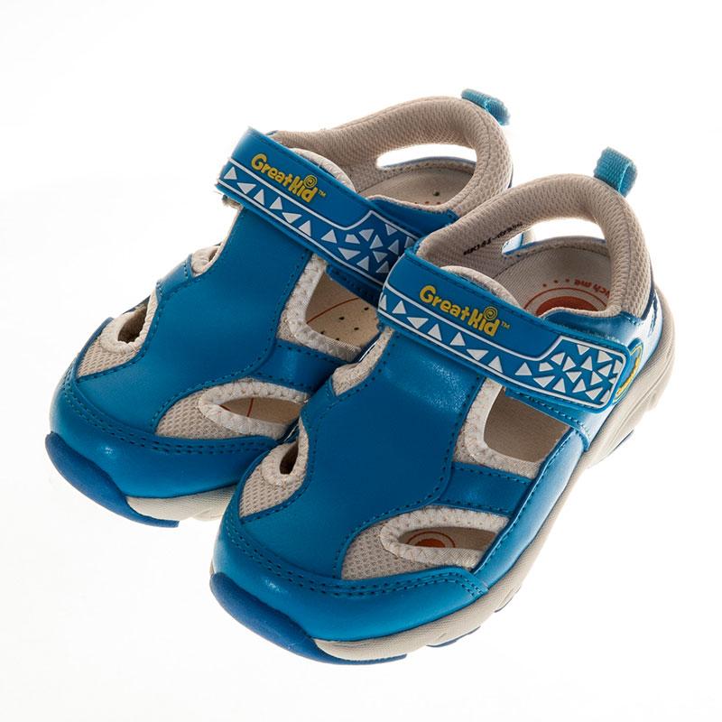 歌瑞凯儿休闲运动机能婴儿鞋蓝13.5码GK151-029SH