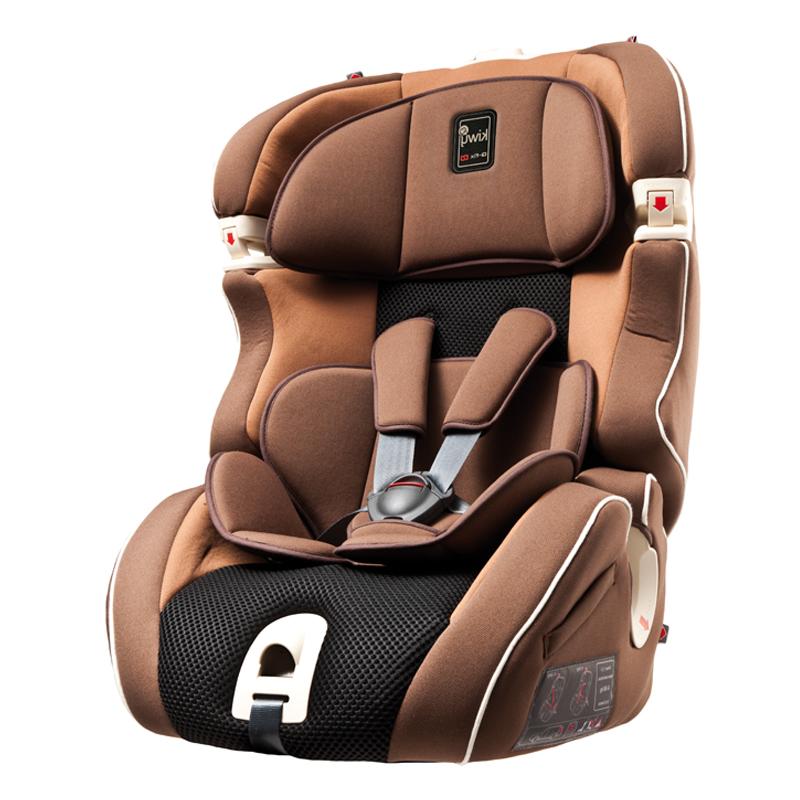 kiwy凯威意大利原装进口9个月-12岁安全座椅SLF123 摩卡棕