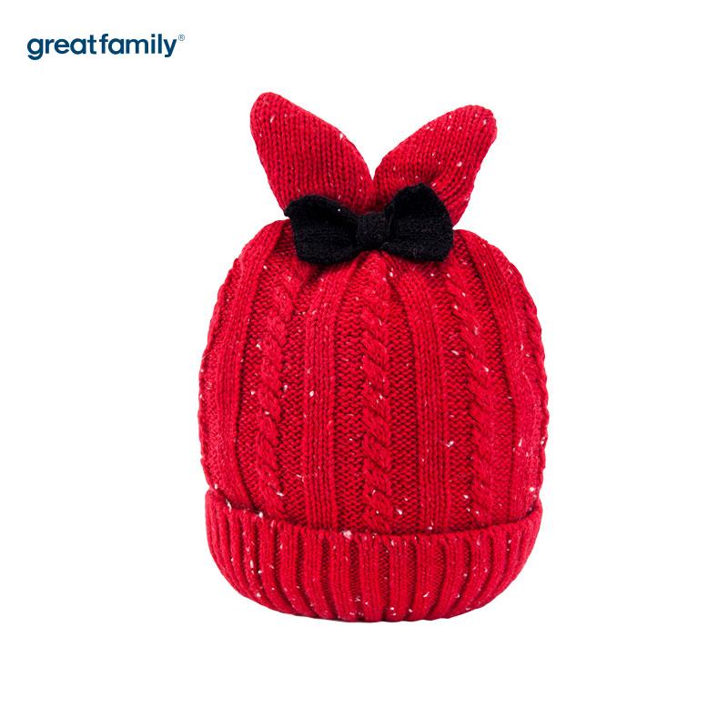 歌瑞家(Greatfamily)A类女童红色针织帽