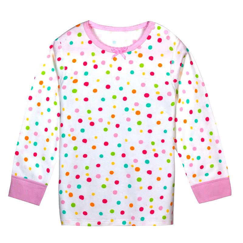 歌瑞凯儿A类女童粉色纯棉圆领上衣