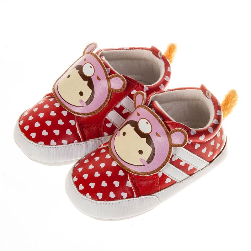 歌瑞贝儿卡通宝贝婴儿鞋红11码GB151-026SH