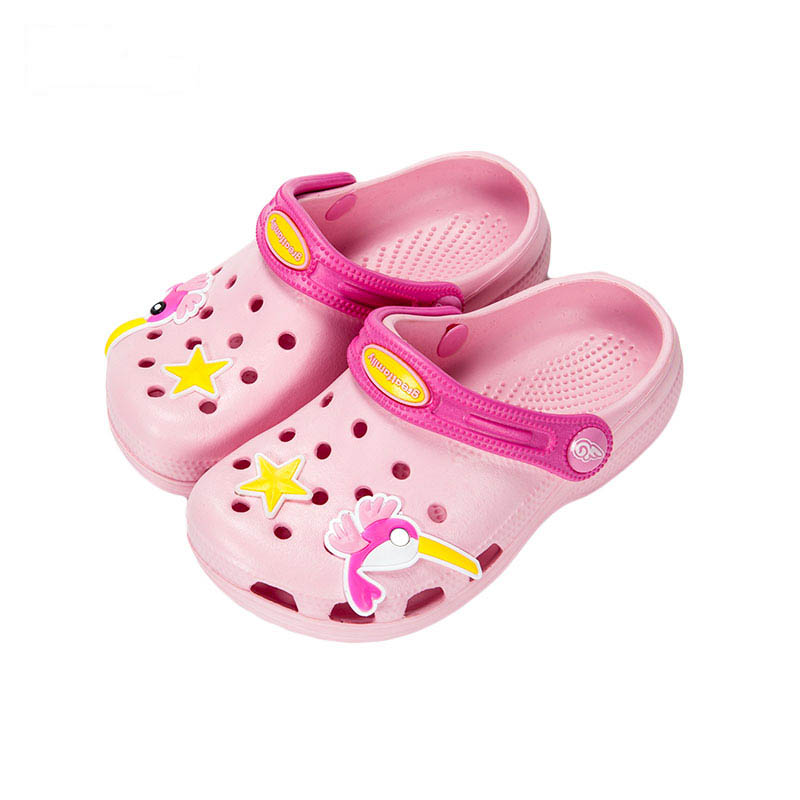 歌瑞凯儿女婴啄木鸟拖鞋GK162-014SH粉14cm双