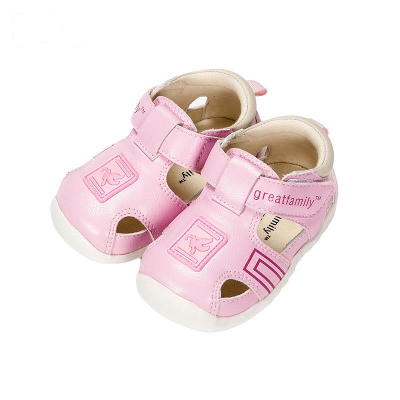 歌瑞贝儿女婴休闲凉鞋GB162-011SH粉13cm双