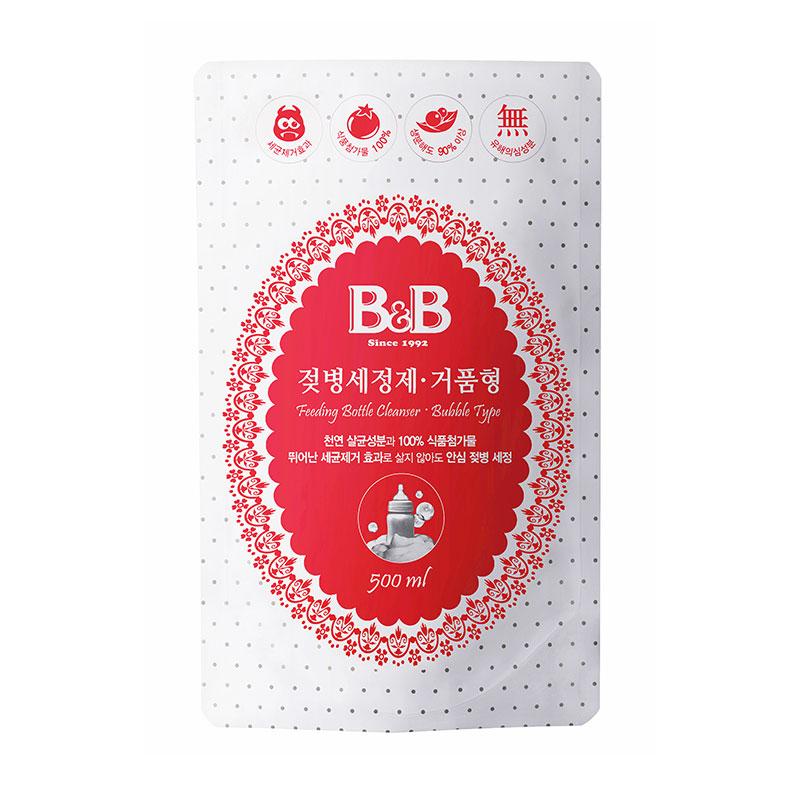 保宁B&B韩国进口宁奶瓶清洁剂泡沫型补充装500ml