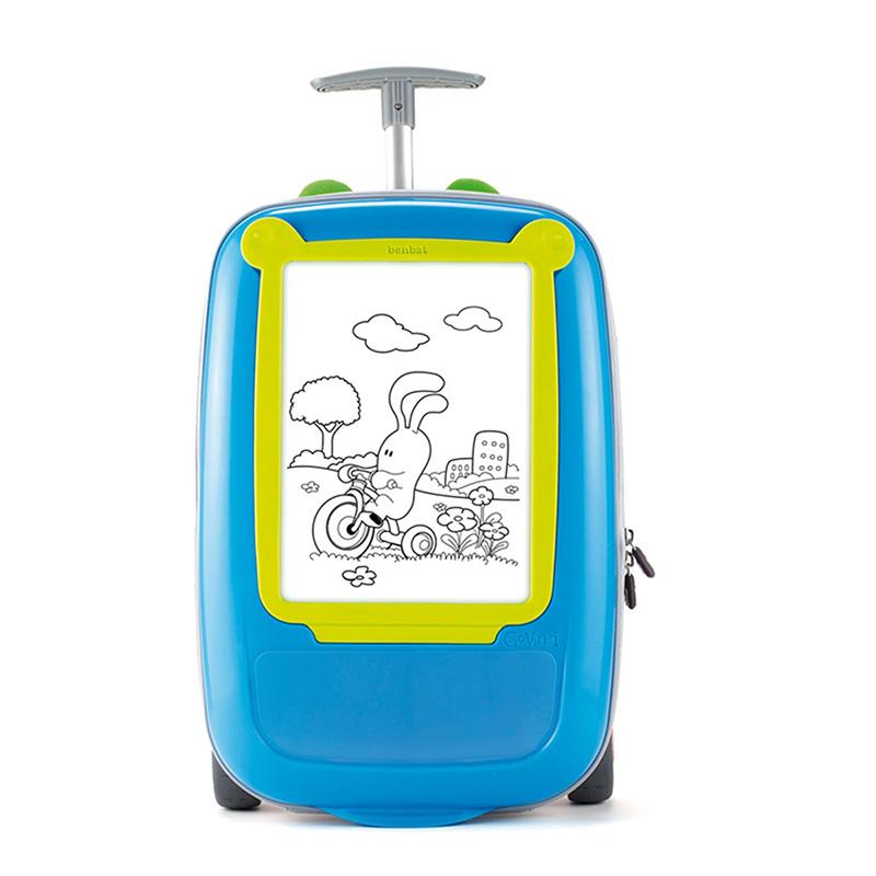 Go Vinci 手拉行李箱 - 蓝色/绿色