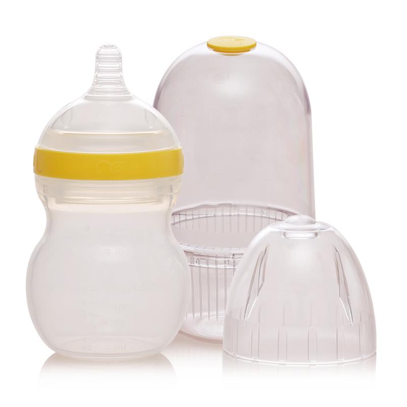 Mamiqing硅胶奶瓶黄色(内含奶瓶罩1个)260ml