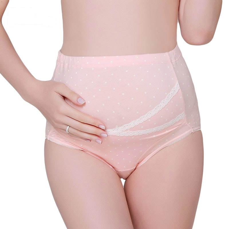 歌瑞妈妈--粉色印点高腰托腹底裤GM150-046UA粉XXL件