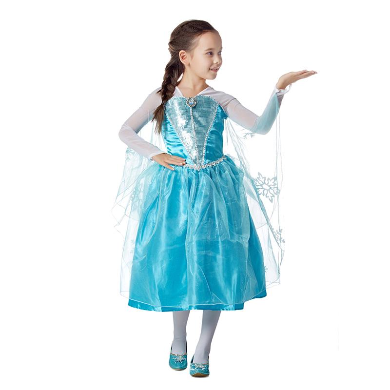 迪士尼爱莎公主连衣裙蓝色