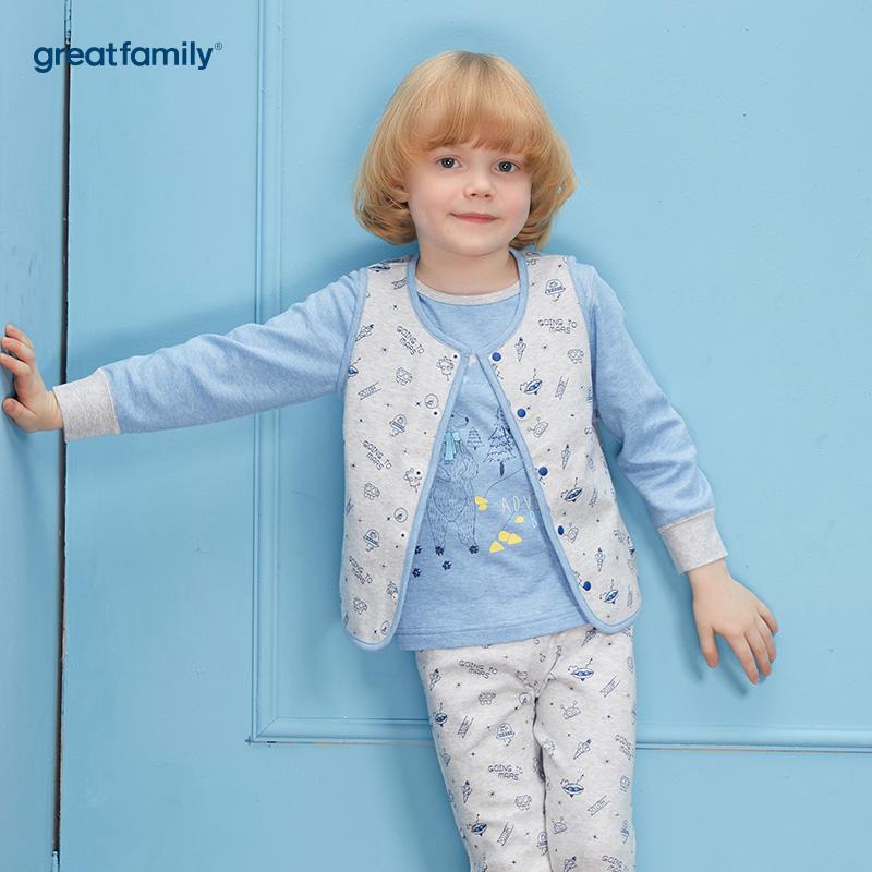 歌瑞家(Greatfamily)A类男童混色两面穿马甲