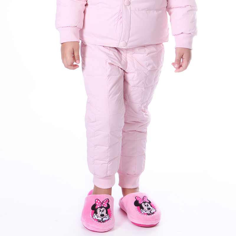 歌瑞家A类女童粉色缩口羽绒长裤