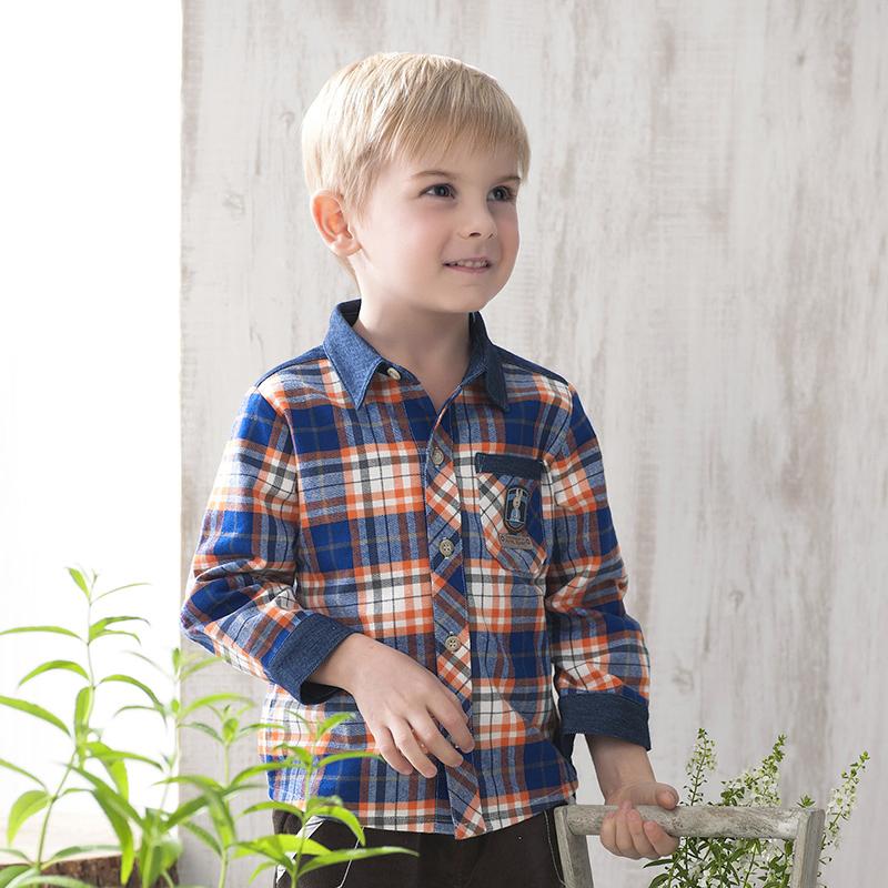 歌瑞家PeterRabbit比得兔系列A类混色男童衬衫