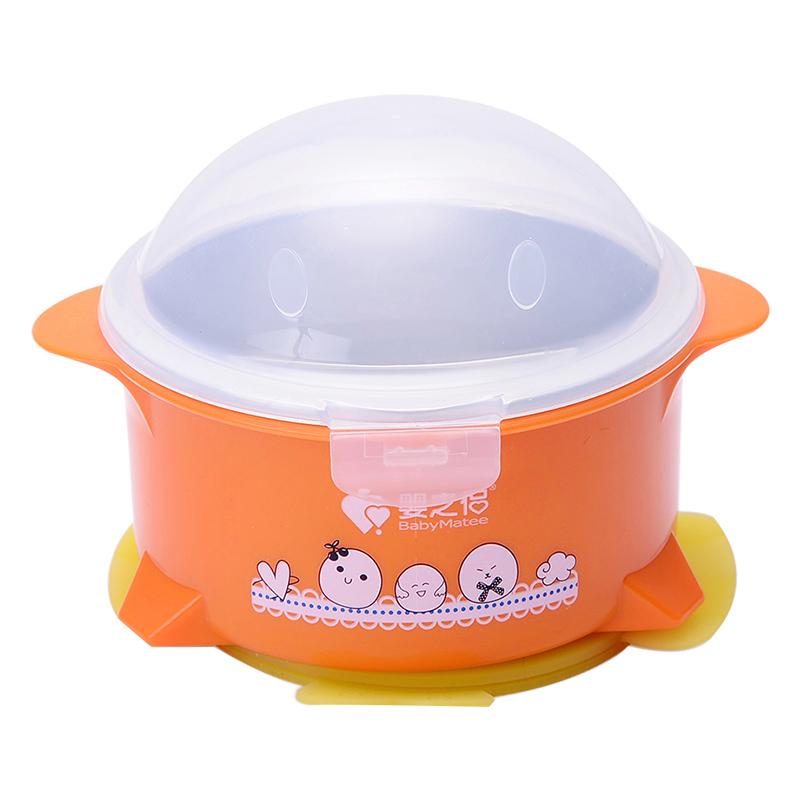 婴之侣保温分体不锈钢碗(企鹅)300ml