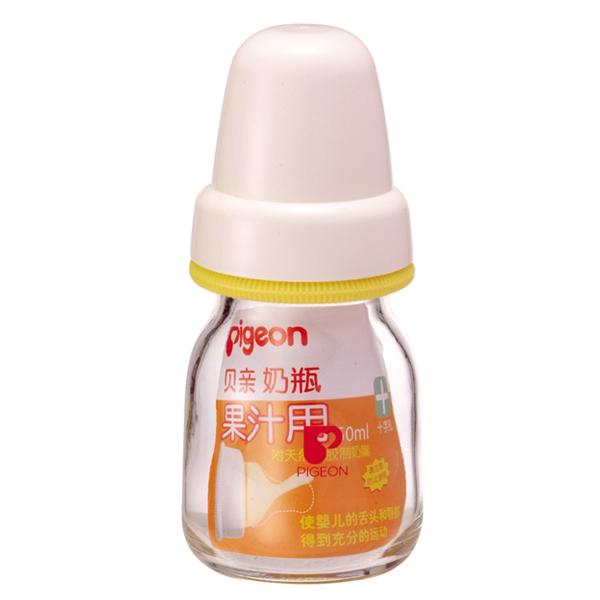Pigeon贝亲玻璃果汁瓶DA71配乳胶奶嘴50ml