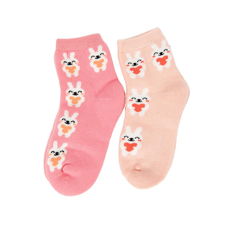歌瑞贝儿女童兔子毛巾袜(2双装)