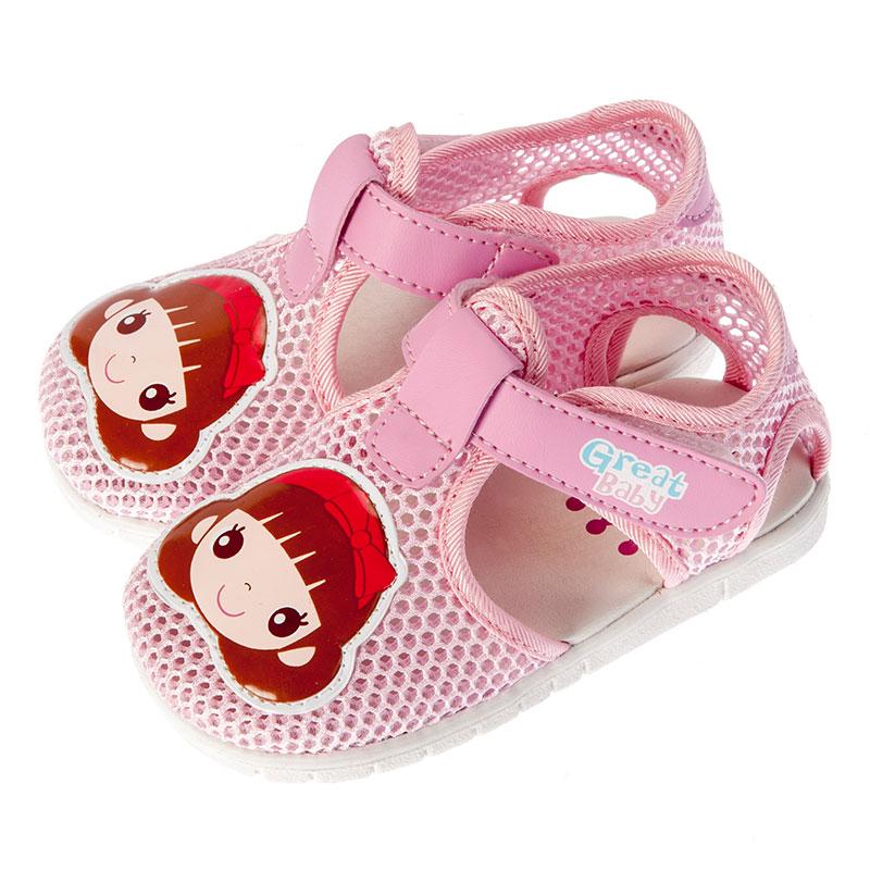 歌瑞贝儿女婴卡通网眼鞋GB152-024SH粉13.5cm