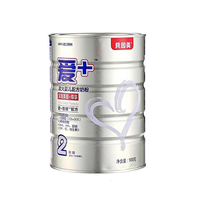 贝因美爱+尊享较大婴儿配方奶粉900g桶