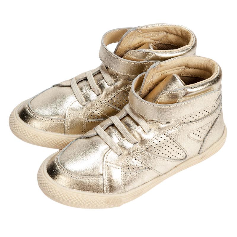 歌瑞凯儿女婴时尚皮鞋GK153-010SH金色16cm双