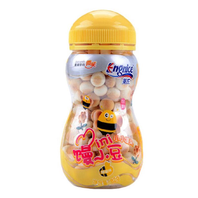 英氏Engnice小小馒头82g/盒蜂蜜味