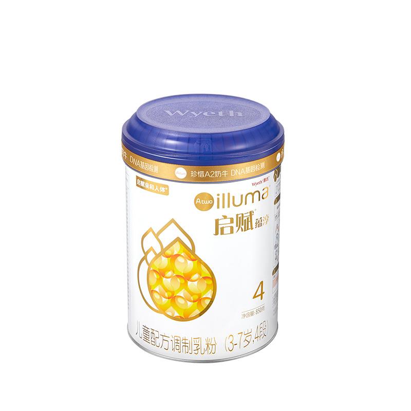 启赋蕴淳儿童配方调制乳粉4段(3-7岁)850g桶