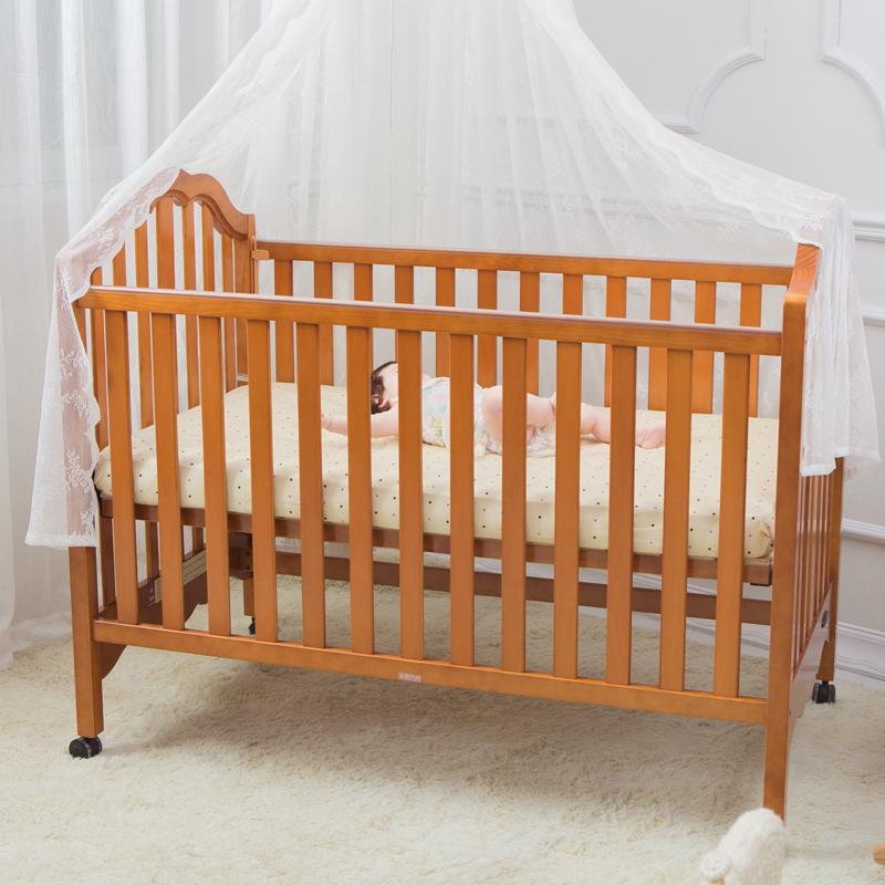 贝乐堡-夏洛特欧式胡桃色婴儿床