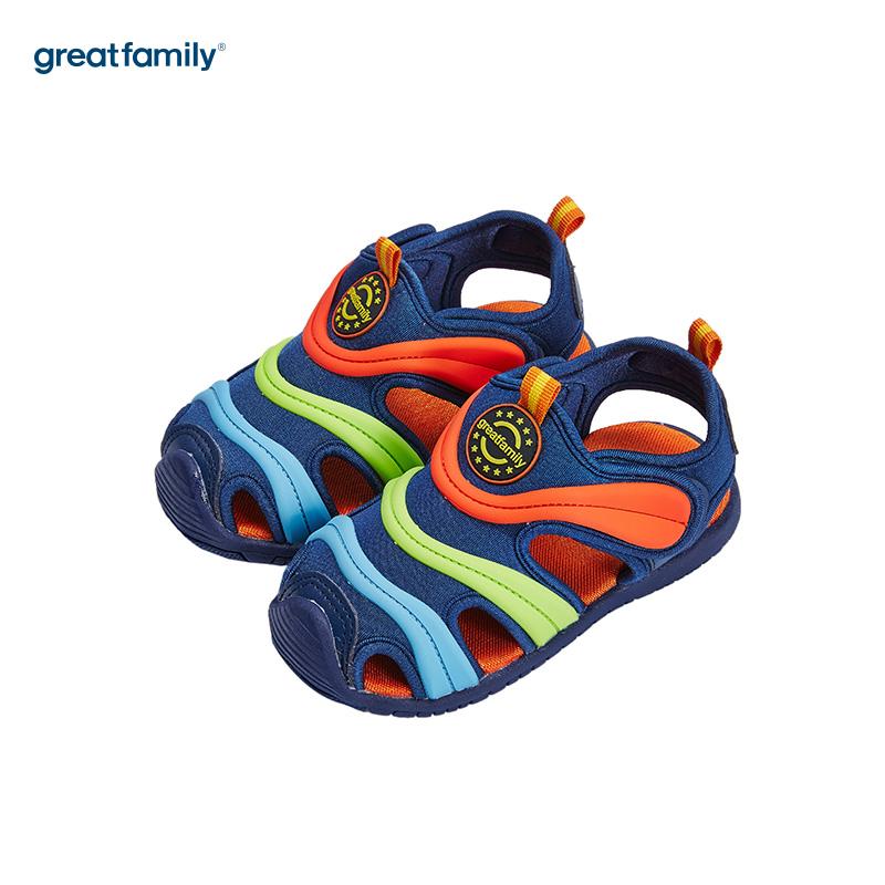 歌瑞家(greatfamily)男婴小毛虫运动鞋GB182-012SH蓝13CM双