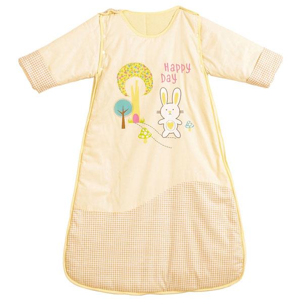 佳爱贝比(新)--欢乐兔袖可脱卸睡袋JAQ-FS1325-3黄混码