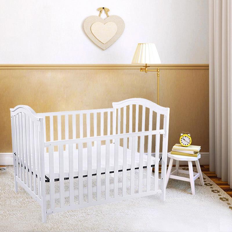 宜柏 实木松木婴儿宝宝用高品质美式加大床