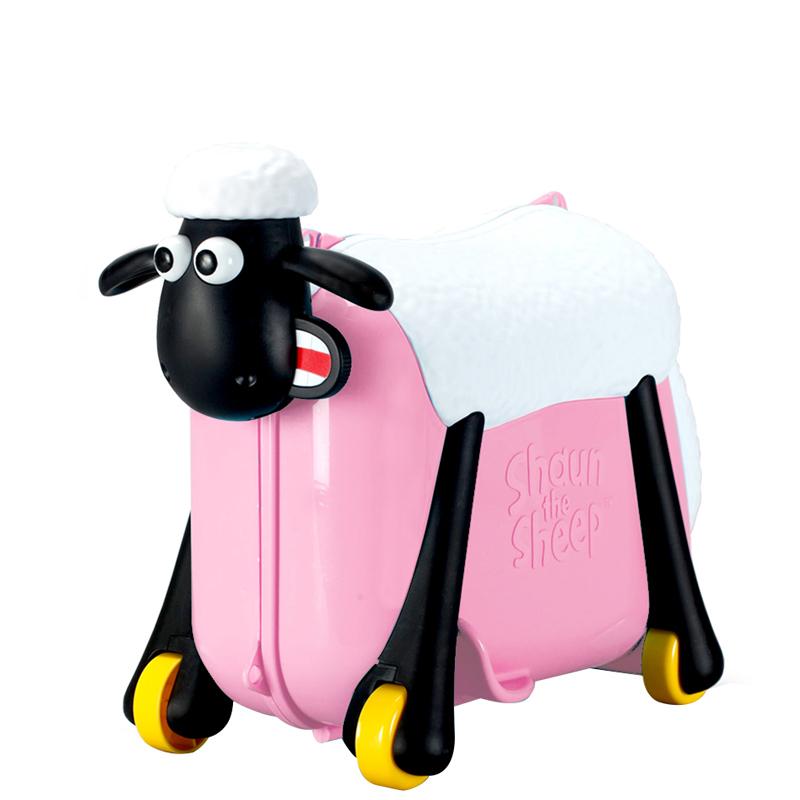 小羊肖恩骑行旅行箱-粉色