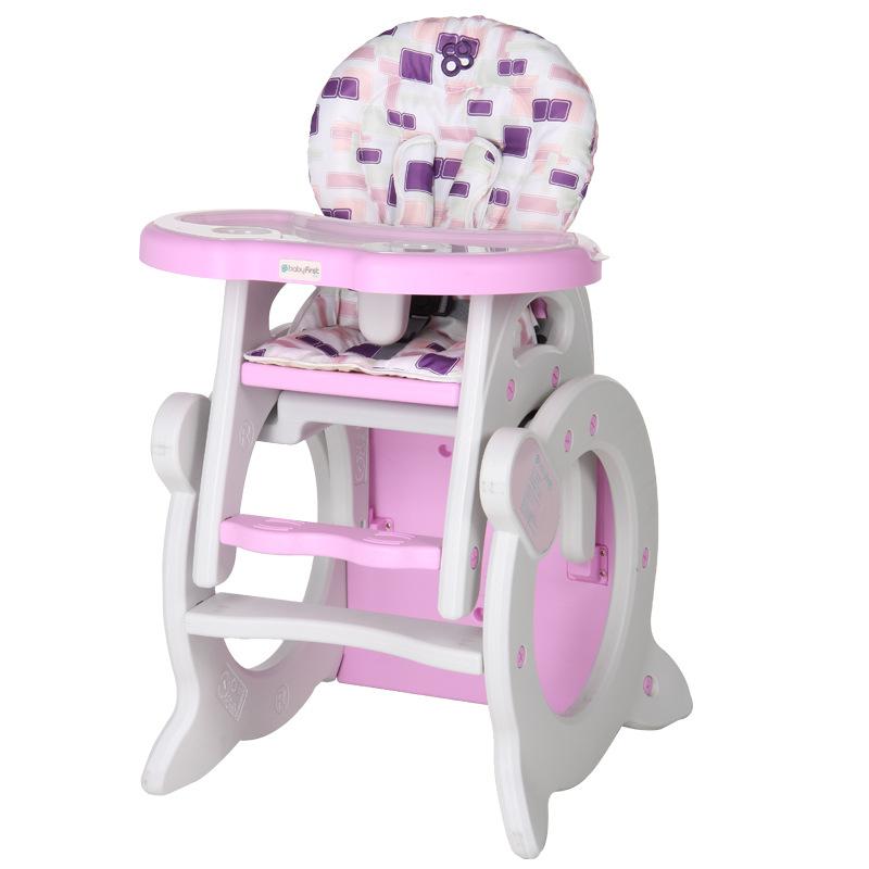 宝贝第一(Babyfirst)QQ・MI吹塑高椅几何空间红