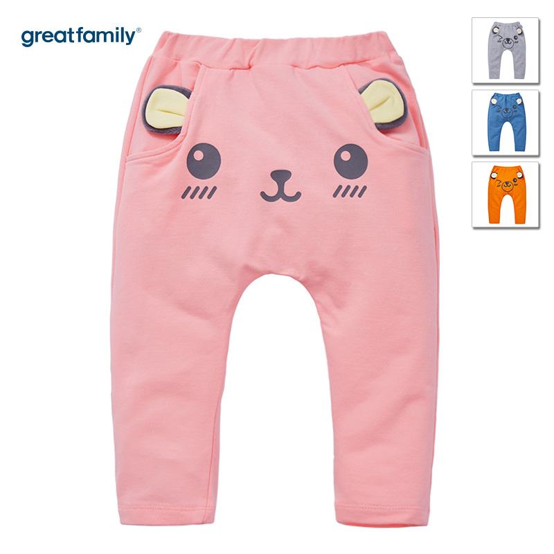 歌瑞家(Greatfamily)A类女宝宝粉色纯棉PP裤