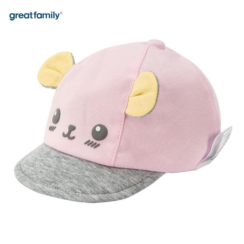 歌瑞家(Greatfamily)A类女童粉色棒球帽