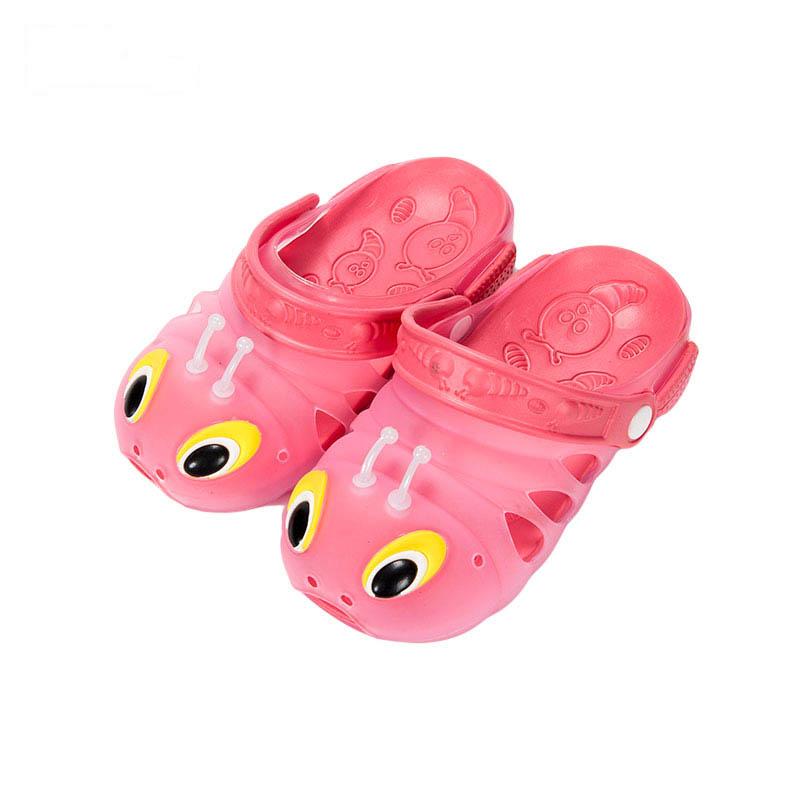 歌瑞凯儿女婴毛毛虫拖鞋GK162-008SH粉16cm双