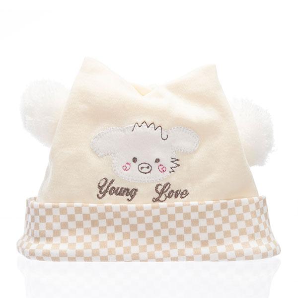 歌瑞贝儿(新)--婴贝帽GB130-137黄40码顶
