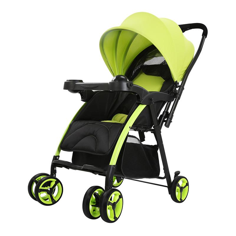 Pouch四季便携一键折叠婴儿推车A02柠檬绿