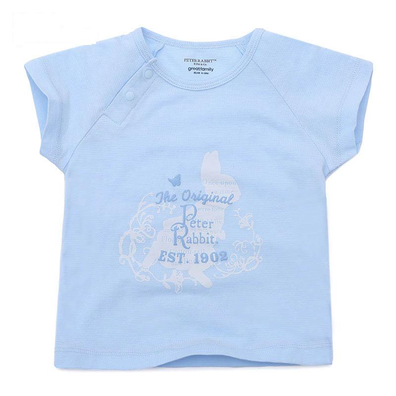 歌瑞家比得兔系列A类男宝宝条纹比得兔侧开上衣