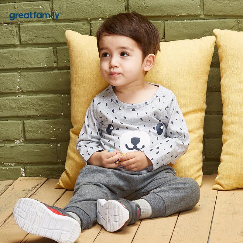 歌瑞家(Greatfamily)A类男宝宝花色纯棉T恤