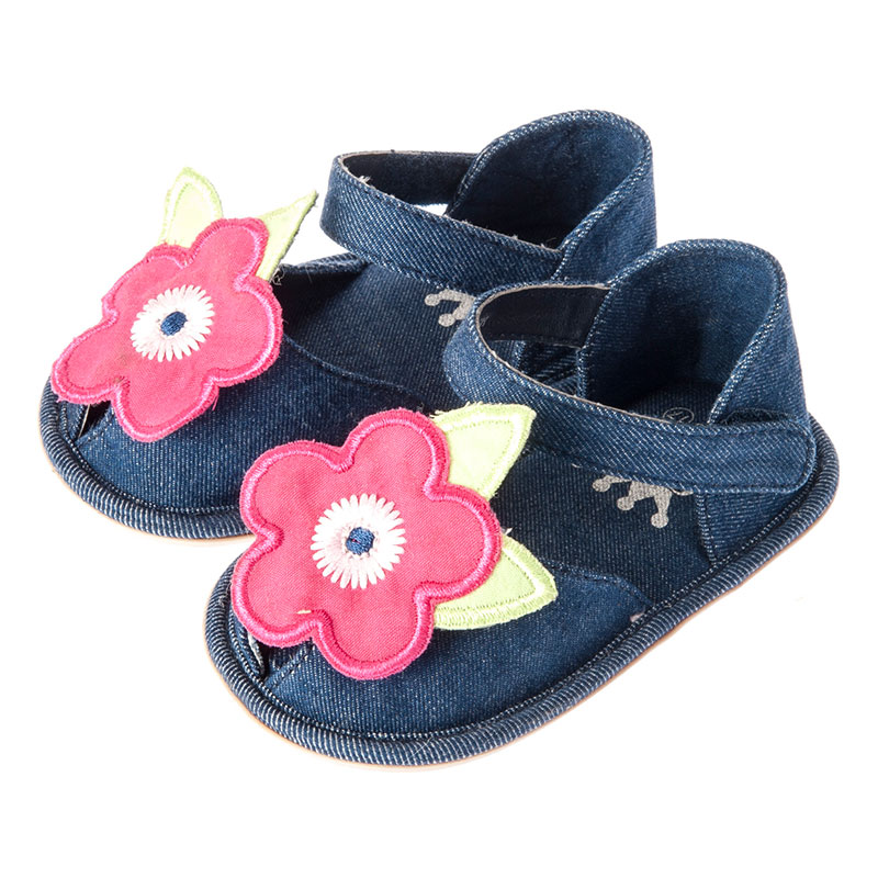歌瑞贝儿女婴小花凉鞋GB152-006SH蓝11cm