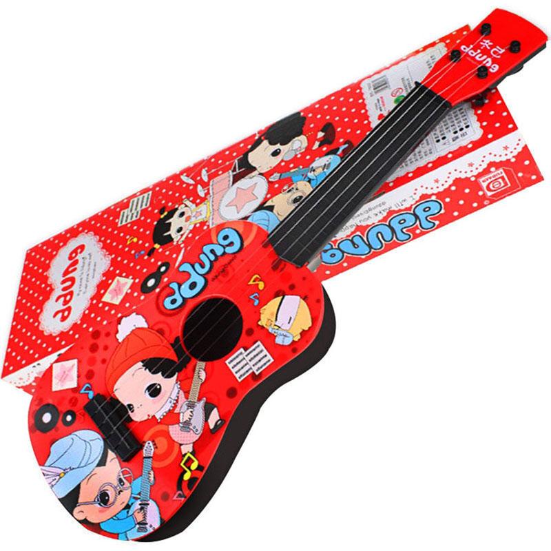 冬己可弹奏吉他乐器 红色