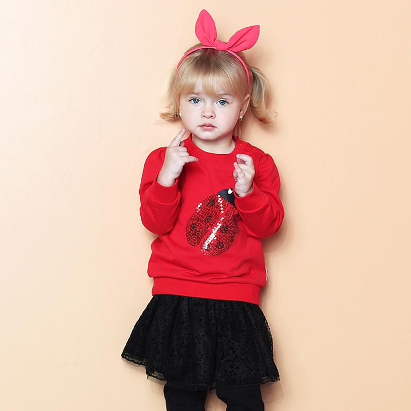 歌瑞家A类红女童套头卫衣