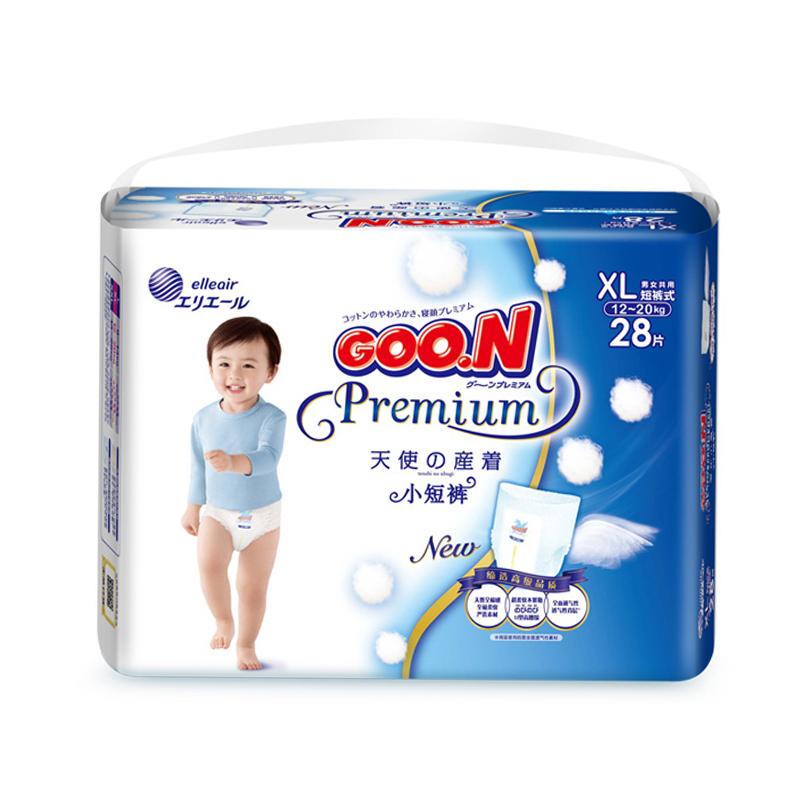 GOO.N短裤式纸尿裤天使系列XL28片