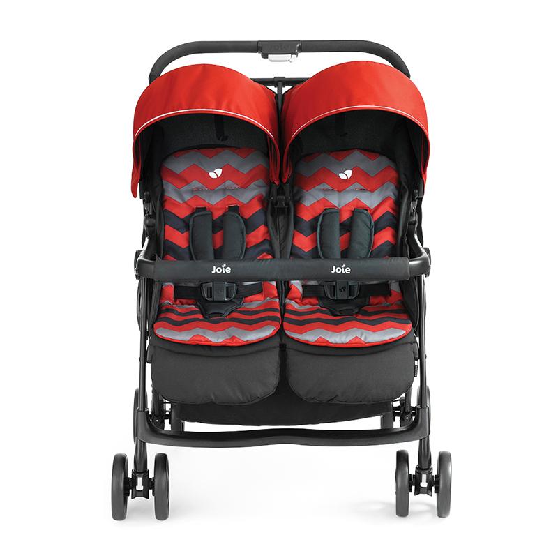 巧儿宜(Joie)Aire双胞胎婴儿折叠轻便四轮避震可平躺儿童推车