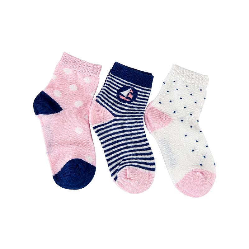 歌瑞家greatfamily图案系列女童平纹短袜(3双装)