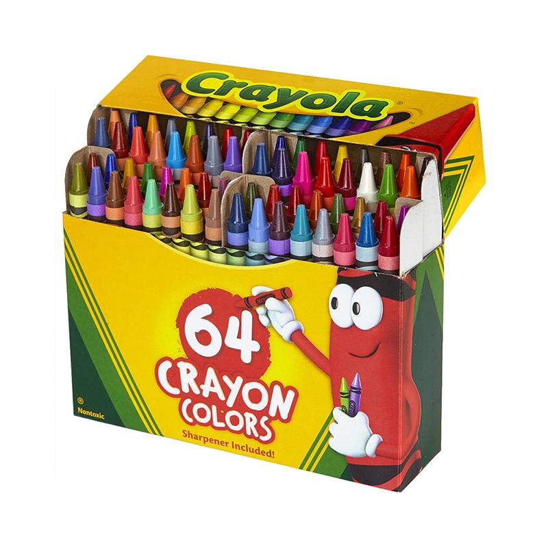 【全球购】美国Crayola绘儿乐64色标准普通蜡笔2岁以上保税区直发