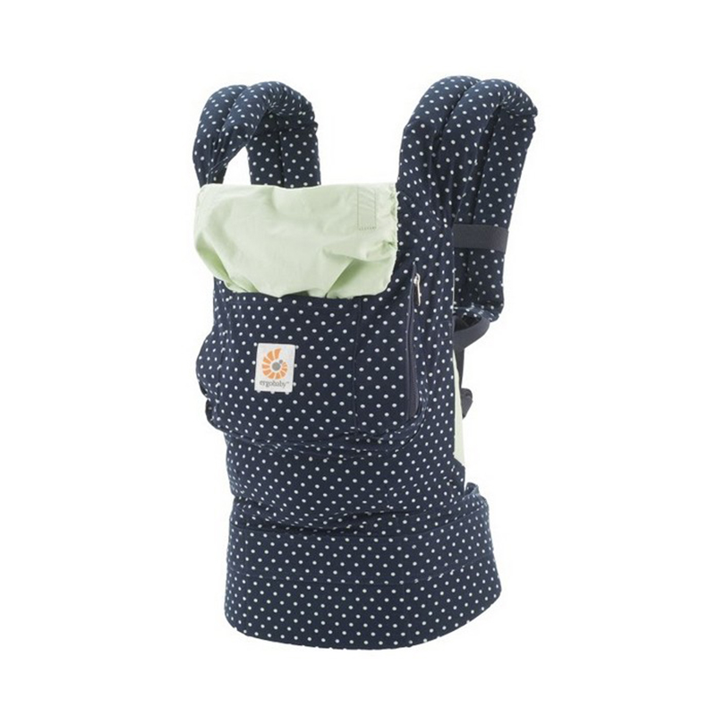 美国Ergobaby基本款婴儿背带(薄荷圆点)明星同款 Ergobaby Original3 Position Baby Carrier Galaxy Indigo Dots