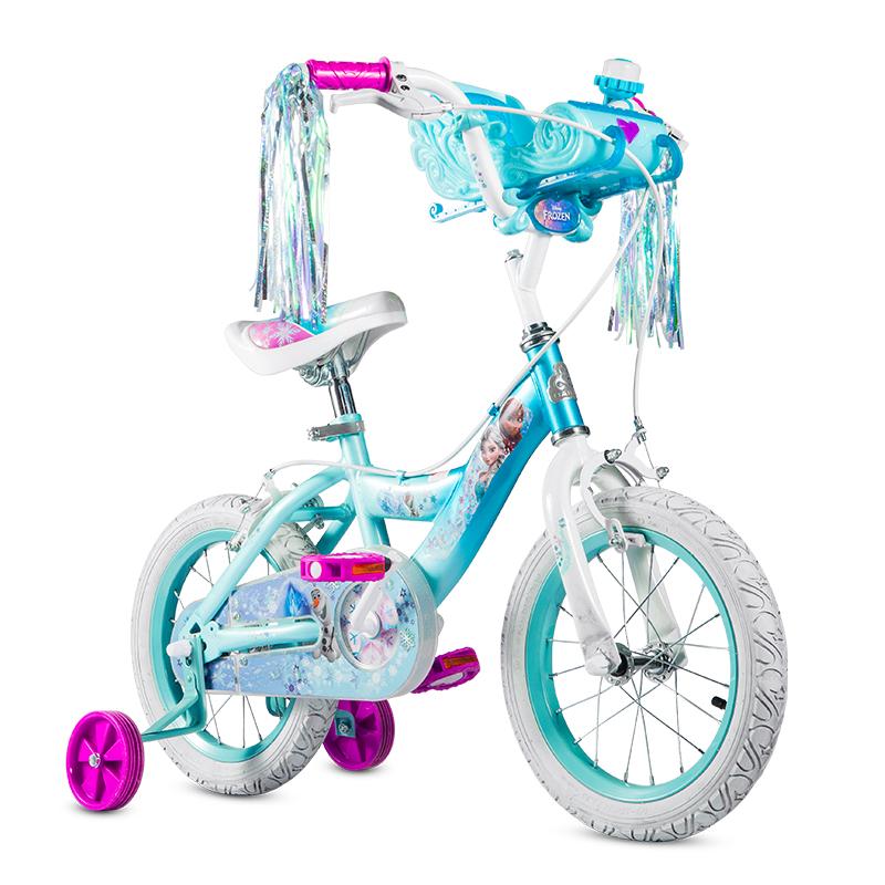 贝乐BAILEY-冰雪奇缘雪橇娃娃架儿童自行车14寸