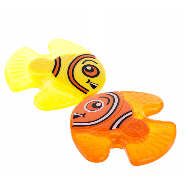 韦特儿Vital小鱼伙伴牙胶2支装安全PP材质不含双酚A
