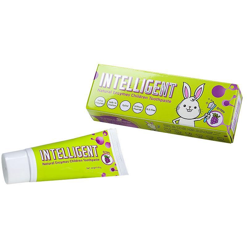 因特力净Intelligent儿童酵素牙膏葡萄味40g纯天然生物酶制造还原口腔生态葡萄味宝宝牙膏