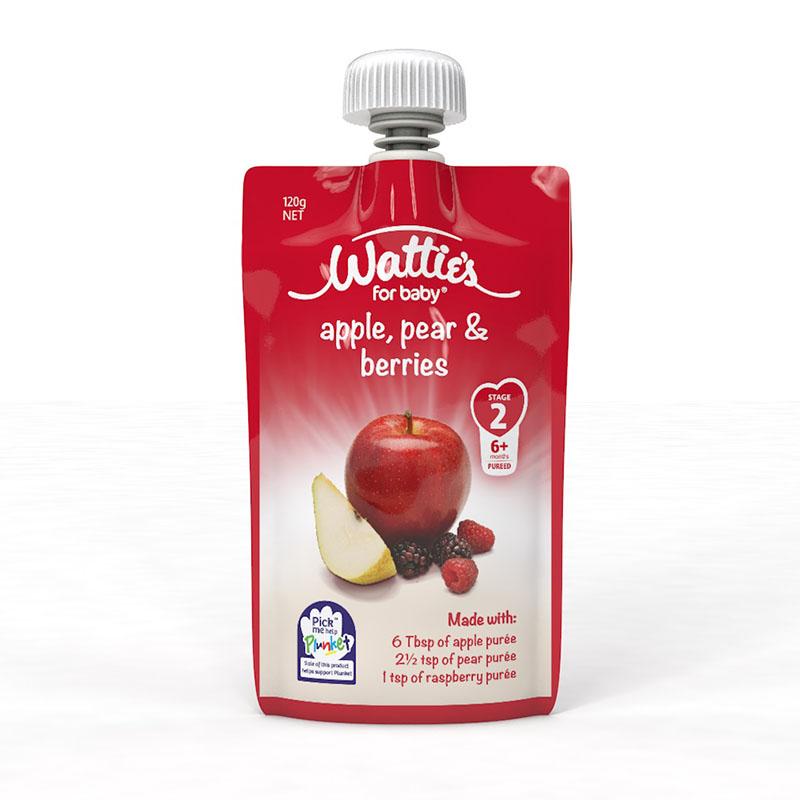 启世--婴幼儿苹果香梨莓果泥 120g