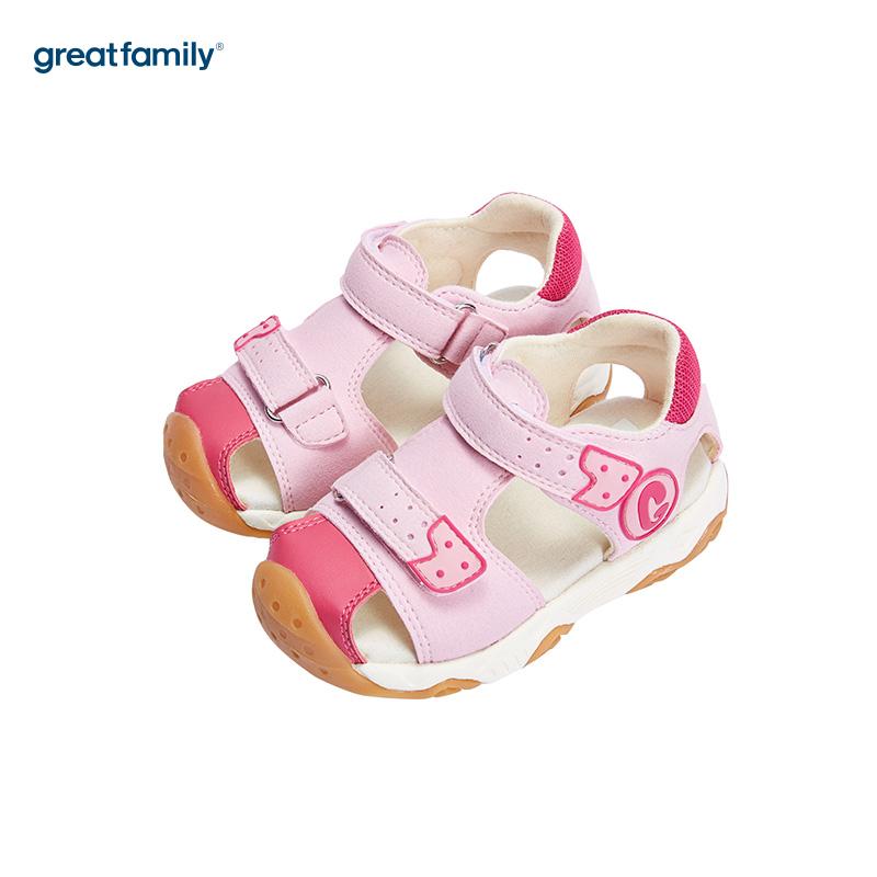 歌瑞家(greatfamily)女婴户外凉鞋GK182-001SH粉15CM双